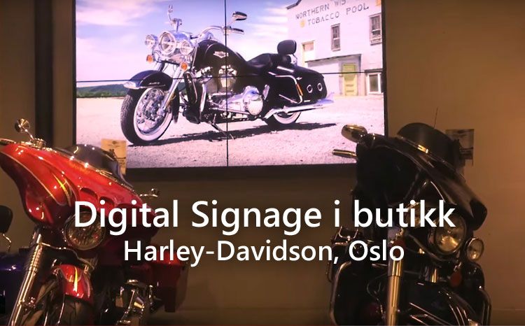 Digital Signage for Harley-Davidson Oslo